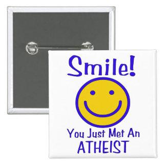 Atheist Smiley 15 Cm Square Badge