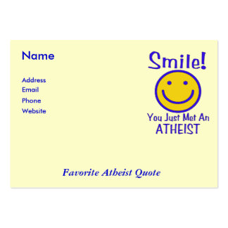 Atheist Smiley Large Business Cards (Pack Of 100)