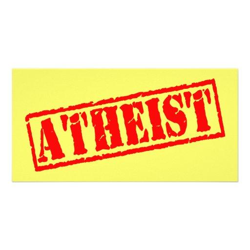 Atheist Stamp Photo Greeting Card