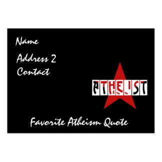 Atheist Star Large Business Cards (Pack Of 100)