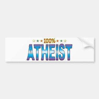 Atheist Star Tag v2 Bumper Sticker