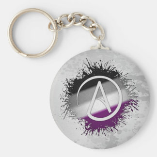 Atheist Symbol Asexual Key Ring