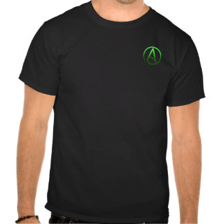 Atheist symbol small logo men s t-shirt