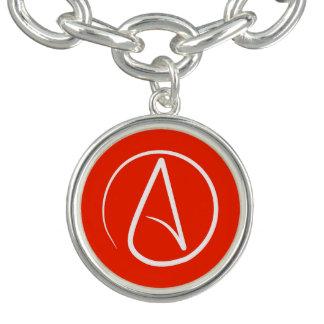 Atheist symbol: white on red