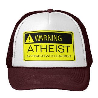 Atheist Warning Sign Hat