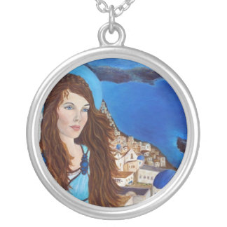 Athena, A Greek Earthangel Silver Plated Necklace