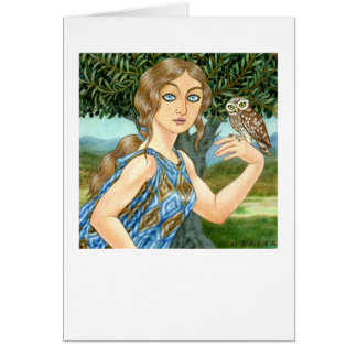 Athena Glaukopis Greeting Card