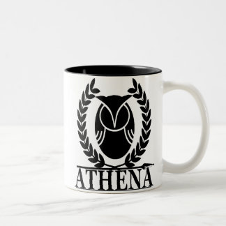Athena - Goddess of Wisdom Two-Tone Coffee Mug