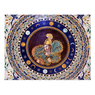 Athena mosaic in the Vatican Museums Postcard