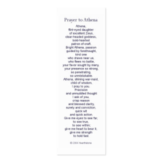 Athena Prayer Card Business Card