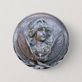 Athena Shield 6 Cm Round Badge
