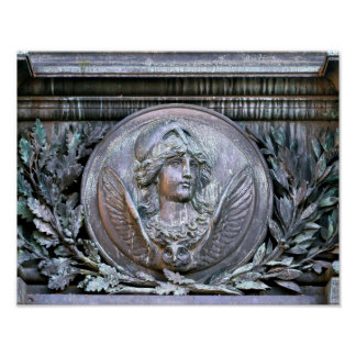 Athena Shield Poster