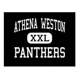 Athena Weston - Panthers - Junior - Weston Oregon Postcard