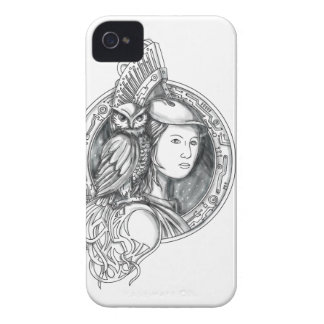 Athena with Owl on Shoulder Electronic Circuit Cir Case-Mate iPhone 4 Case