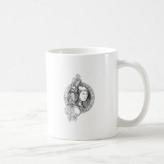 Athena with Owl on Shoulder Electronic Circuit Cir Coffee Mug