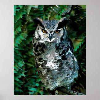 Athena's owl takes care poster