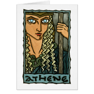 Athene Greeting Card