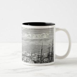 Athens: general view of the Piraeus, Two-Tone Coffee Mug