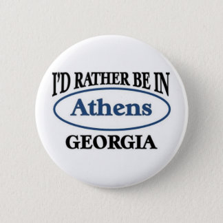 Athens georgia 6 cm round badge