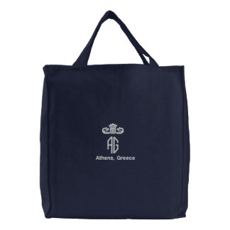 Athens, Greece Embroidered Tote Bag