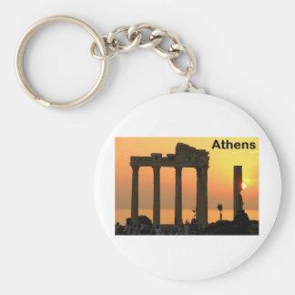 Athens Greece (Sounion) Temple of Apollo (St.K) Basic Round Button Key Ring