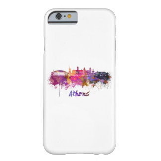 Athens OH skyline in watercolor Barely There iPhone 6 Case