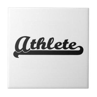 Athlete Artistic Job Design Small Square Tile