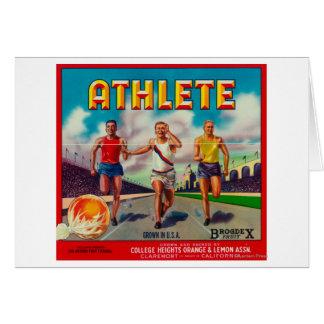 Athlete Brand Citrus Crate Label Card