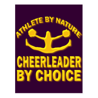 ATHLETE BY NATURE CHEERLEADER BY CHOICE POSTCARD
