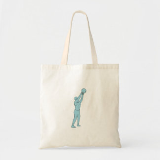 Athlete Fitness Kettlebell Swing Drawing Tote Bag