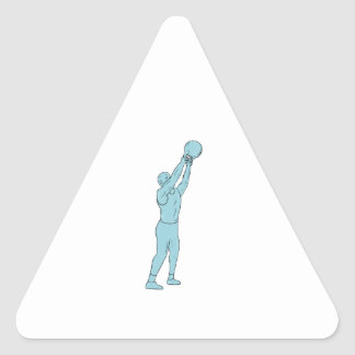 Athlete Fitness Kettlebell Swing Drawing Triangle Sticker