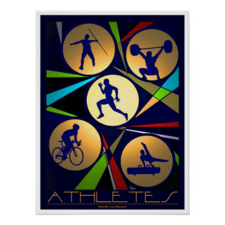 Athletes poster art/print