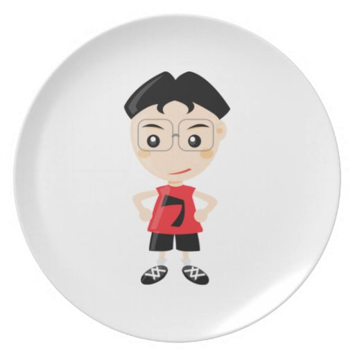 Athletic Kid Party Plate