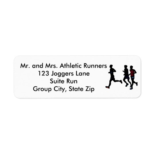 Athletic Runners Running Personalise Address Label
