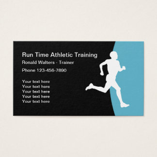 Athletic Trainer Modern Design Business Card