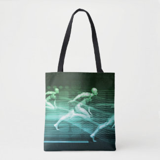 Athletic Training and Running Together Tote Bag