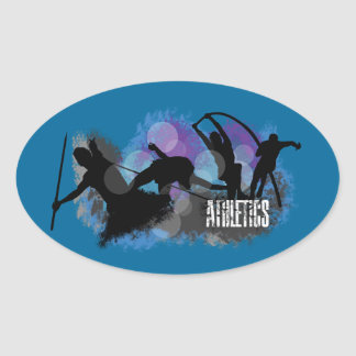 Athletics Oval Sticker