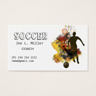 Athletics Soccer Player Running Practicing Skills Business Card
