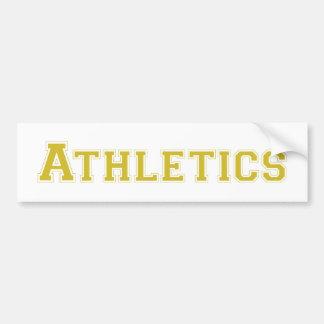 Athletics square logo in gold bumper sticker