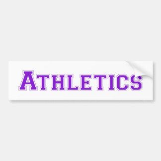 Athletics square logo in purple bumper stickers
