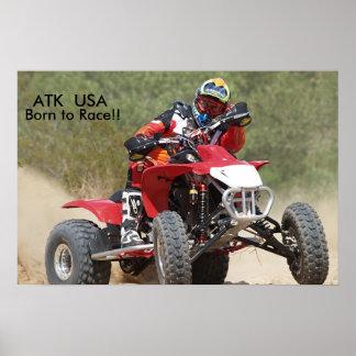 ATK 450 Quad Racing Poster