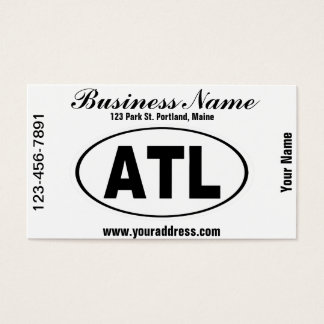 ATL Atlanta Georgia Business Card