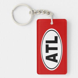 ATL Atlanta Georgia Double-Sided Rectangular Acrylic Key Ring