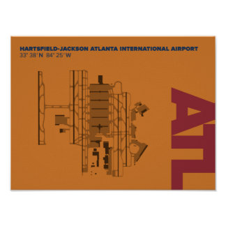 Atlanta Airport (ATL) Diagram Poster