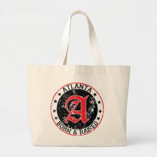 Atlanta born and raised black canvas bag
