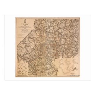 Atlanta Campaign - Civil War Panoramic Map 3 Postcard