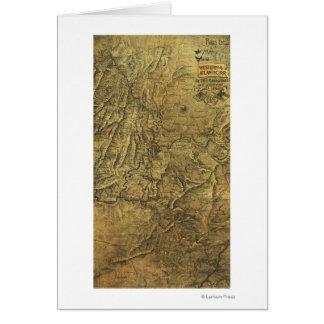 Atlanta Campaign - Civil War Panoramic Map Greeting Card