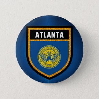 Atlanta Flag 6 Cm Round Badge