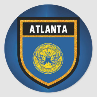 Atlanta Flag Classic Round Sticker