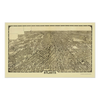 Atlanta, GA Panoramic Map - 1919 Poster